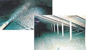 Einblasflocken-Dach